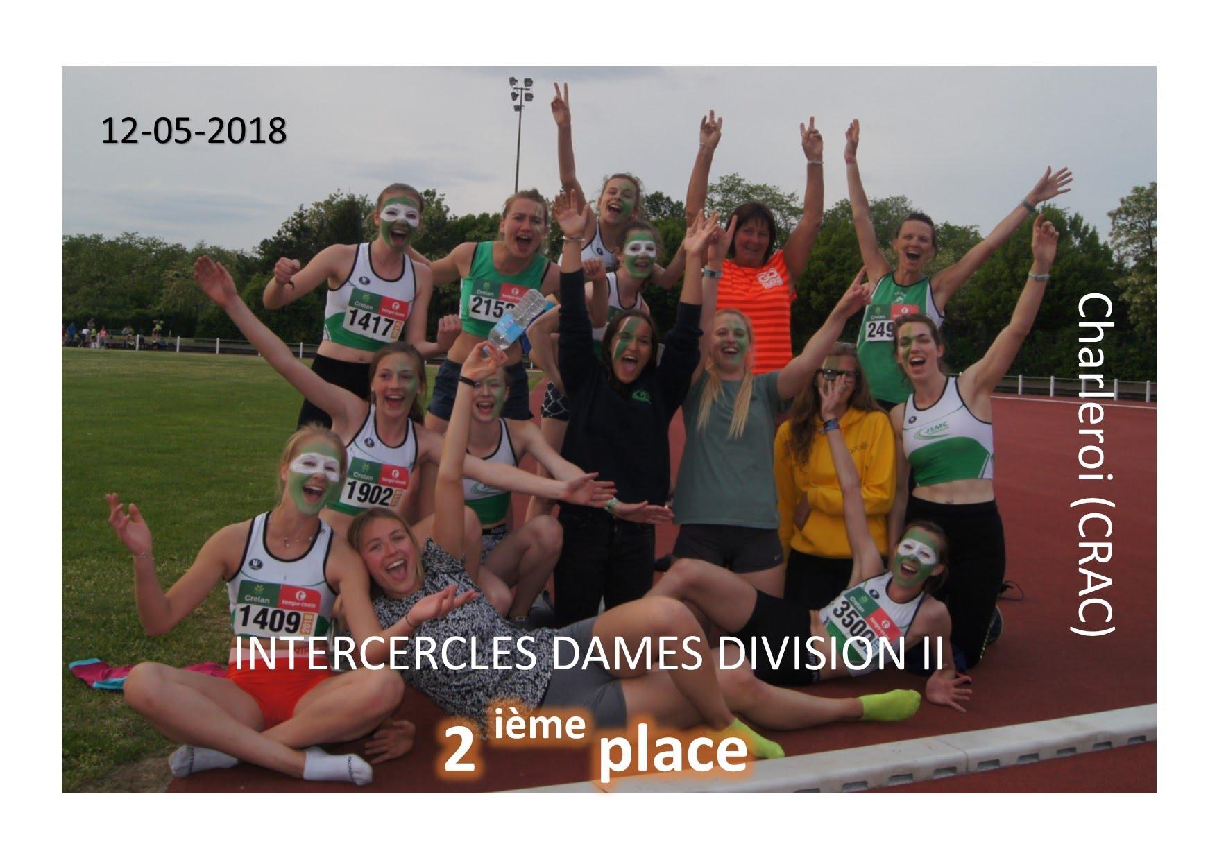 2018-5-12 équipe Dames 2ième place Div II