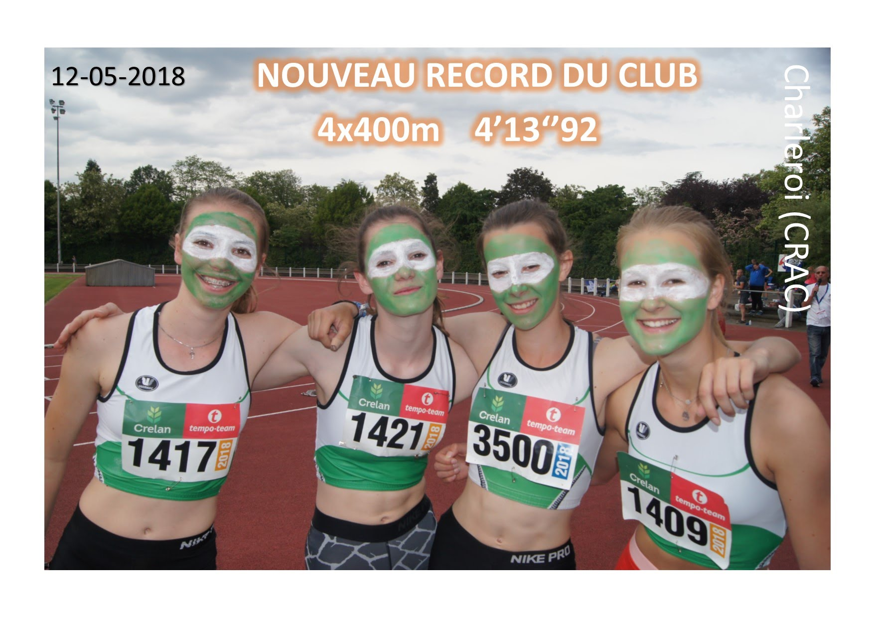 2018-5-12 RECORD Equipe 4x400m DAMES